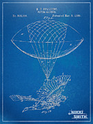 R Posters - Icarus Airborn Patent Artwork Poster by Nikki Marie Smith