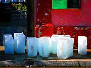 Michael Metal Prints - Ice Blocks by Michael Fitzpatrick Metal Print by Olden Mexico