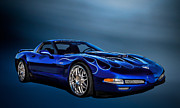 Custom Chevrolet Posters - Ice Blue C5 Poster by Douglas Pittman