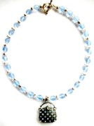 Metal Jewelry - Ice Blue Crystals with Purse by Pat Stevens