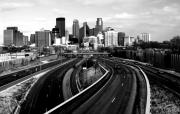 Minneapolis Skyline Prints - Ice City Print by Chris Coward