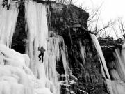 "\""winter Sports\\\""  Framed Prints - Ice Climber in Upstate New York Framed Print by Brendan Reals"