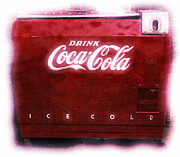 Soda Pop Posters - Ice Cold Coca Cola Poster by Heidi Smith