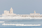United States Of America - Ice Covered Cleveland Harbor Lighthouses by Clarence Holmes