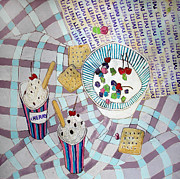 Milk Drawings - Ice cream by Evgeniya Zueva