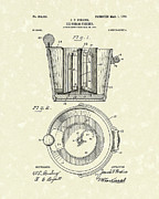 Perkins Posters - Ice Cream Freezer 1904 Patent Art Poster by Prior Art Design