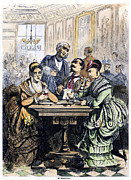 Waiter Framed Prints - Ice Cream Parlor, 1868 Framed Print by Granger
