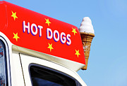 Hot Dog Photos - Ice Cream Van by Richard Newstead