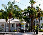 Touristy Prints - Ice Creme Shop on Duval Key West Print by Susanne Van Hulst