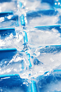 Reflect Prints - Ice Cubes Print by Carlos Caetano