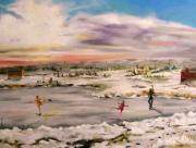 Skating Paintings - Ice Dancing by John  Williams