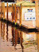 Nautical Digital Art Originals - Ice Dock by Karen Devonne Douglas