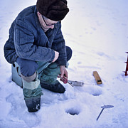 People - Ice Fishing in the Russian Winter by Heiko Koehrer-Wagner