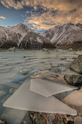Mountain Photos - Ice Floes In Lake Tasman Glacier by Colin Monteath