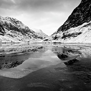 Highlands Acrylic Prints - Ice Flow - Loch Achtriochtan, Glencoe Acrylic Print by David Hannah