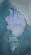 Nature Icicle Prints - Ice Glacier Print by Mary Frazee