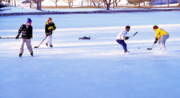 Ice Hockey - Two On Two Print by Steve Ohlsen