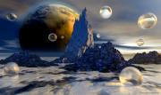 3d Digital Art Prints - Ice Planet Print by Sandra Bauser Digital Art