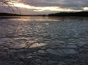 Winter Storm Metal Prints - Ice Sea after Storm Dagmar Metal Print by Dagmar Ceki