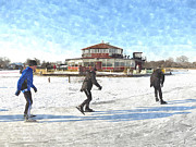 Skate Photo Originals - Ice Skaters by Bill Kret