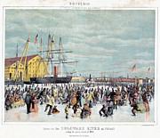 Ice Skaters, C1856 Print by Granger