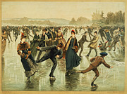 Skater Framed Prints - ICE SKATING, c1886 Framed Print by Granger