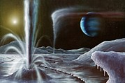 Neptune Prints - Ice Volcanoes On Triton, Artwork Print by Richard Bizley