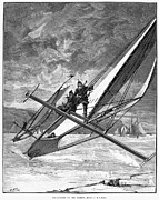 American City Prints - Ice Yachting, 1883 Print by Granger