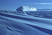 Erebus Photos - Iceberg Locked In Sea Ice, Mcmurdo Sound 1958 by Robin Smith