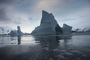 Social Issues Art - Icebergs Float Near Antarctica by Everett