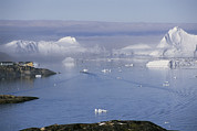 Greenhouse Effect Prints - Icebergs From The Ilulissat Glacier Print by Sisse Brimberg
