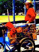 Ballpark Prints - IceCreamVendor Print by Martha Carlozzi