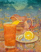 Citrus Digital Art Prints - Iced Tea Print by Mary Ogle