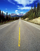 Road Travel Framed Prints - Icefields Parkway, Banff Np, Alberta, Canada Framed Print by Hans-Peter Merten