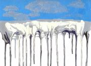 Overhang Painting Framed Prints - Icicles Framed Print by Helene Henderson