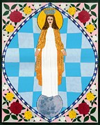 Catholic Art Painting Originals - Icon of the Immaculate Conception by David Raber