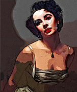 Elizabeth Taylor Prints - Icon Series - Elizabeth Taylor Print by Dolly Mohr