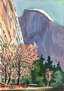 Half Dome Painting Prints - Icon Yosemite Print by Donald Maier