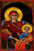 Icon Byzantine Framed Prints - Icon  Framed Print by Yvonne Ayoub