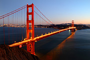 "Lights ""san Francisco"" Prints - Iconic Golden Gate Bridge in San Francisco Print by Pierre Leclerc"