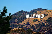 Los Angeles Photo Framed Prints - Iconic Hollywood Sign Framed Print by Russ Harris