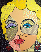 Marylin Paintings - Iconic I by Kathy Van Osdale