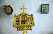 Greece Photos . Photos - Icons inside Greek orthodox church Kastrou Monolithos Rhodes Greece by Ian Murray
