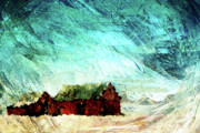 Barns Digital Art - Icy Barns by Andrea Barbieri