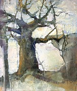Baobab Paintings - Icy Dawn by Wendy Rosselli