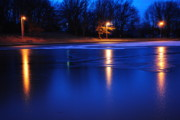 Duck Pond Prints - Icy Glow Print by Robert Harmon