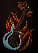 Hard Pastels Posters - Icy Hot Axe Poster by Shana McCormick
