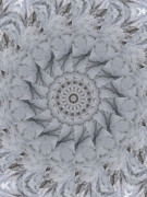 Unity Digital Art Posters - Icy Mandala 1 Poster by Rhonda Barrett