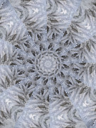 Mandalas Digital Art - Icy Mandala 3 by Rhonda Barrett