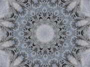 Mandalas Digital Art - Icy Mandala 4 by Rhonda Barrett